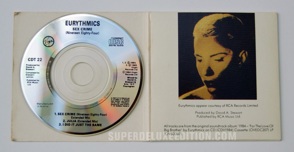 Eurythmics / Sexcrime (Nineteen Eighty Four) CD Single