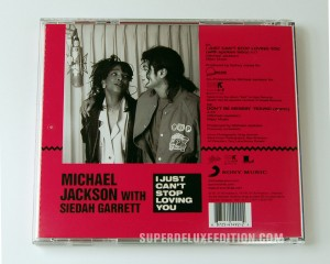Michael Jackson / I Just Can't Stop Loving You reissue