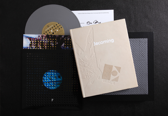 """Becoming Elektra / Hand crafted limited edition book with 10"""" vinyl"""