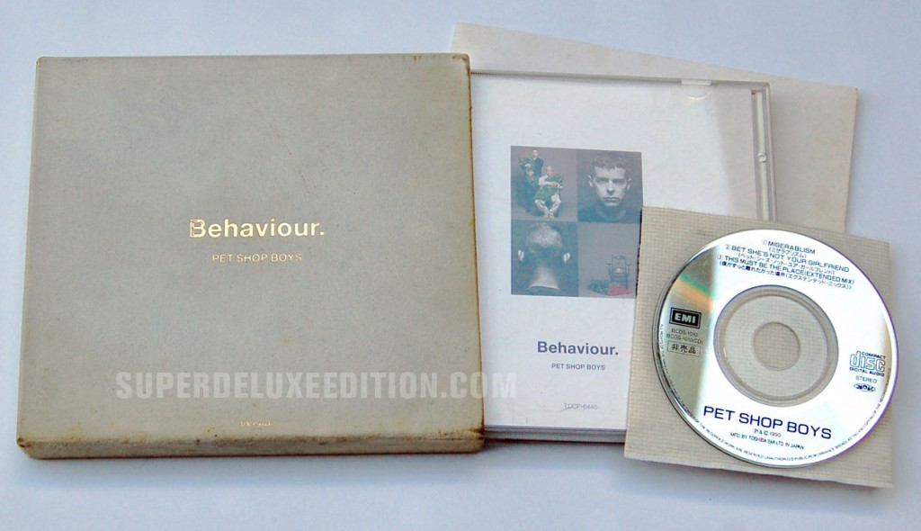 Pet Shop Boys / Behaviour Japan limited edition CD with bonus 3""