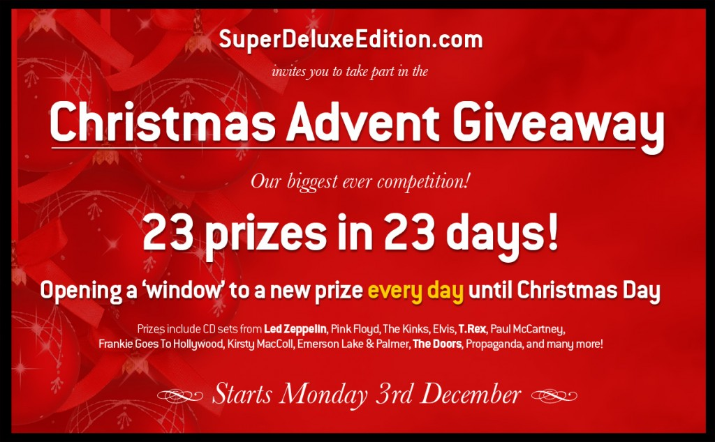 SuperDeluxeEdition.com / Christmas Advent Giveaway competition