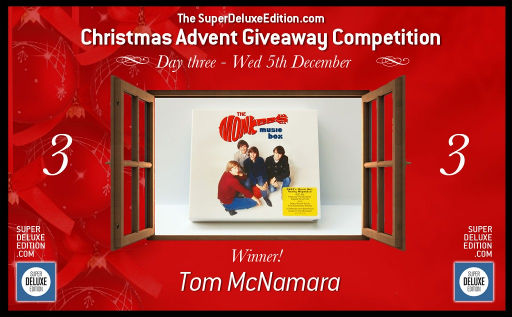 Christmas Advent Giveaway Competition / Day Three: The Winner