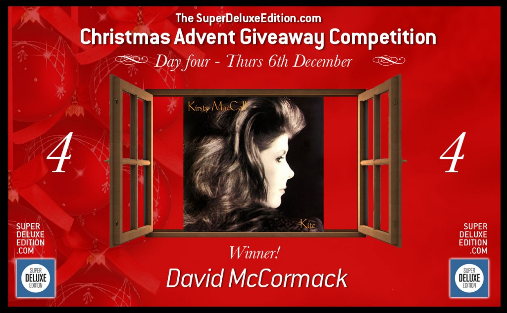 Christmas Advent Giveaway competition / Day Four: The Winner