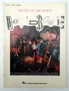 David Bowie / Never Let Me Down music book