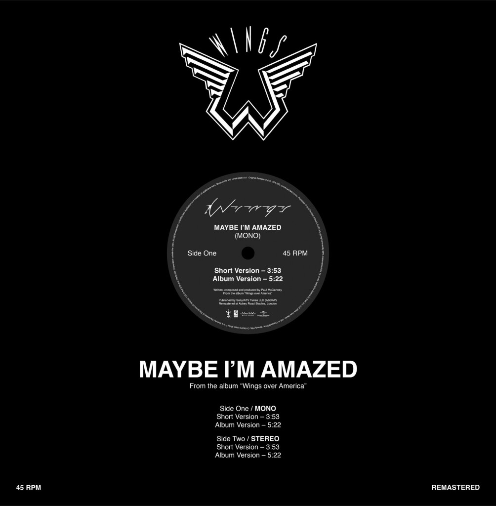 "Paul McCartney / Maybe I'm Amazed Record Store Day 12"" single"