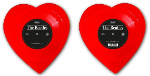 The Beatles / Love Me Do Red shaped vinyl