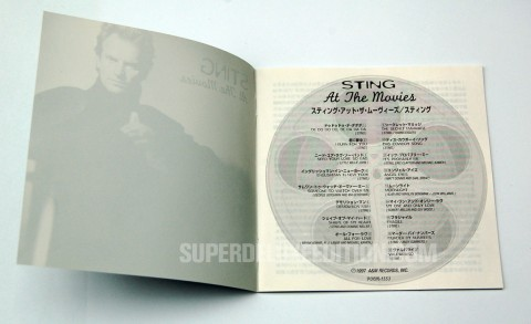 Japanese CD of the Day / Sting At The Movies