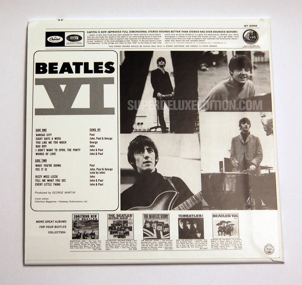 FIRST PICTURES / The Beatles / The US Albums box set: Beatles VI