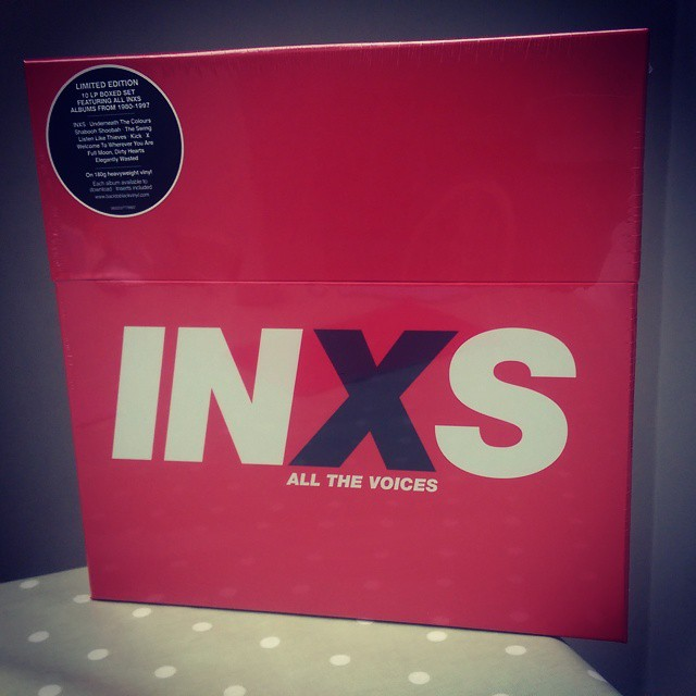 Miserable weather in London today, but nothing like an INXS vinyl box to lift the spirits ... #sde