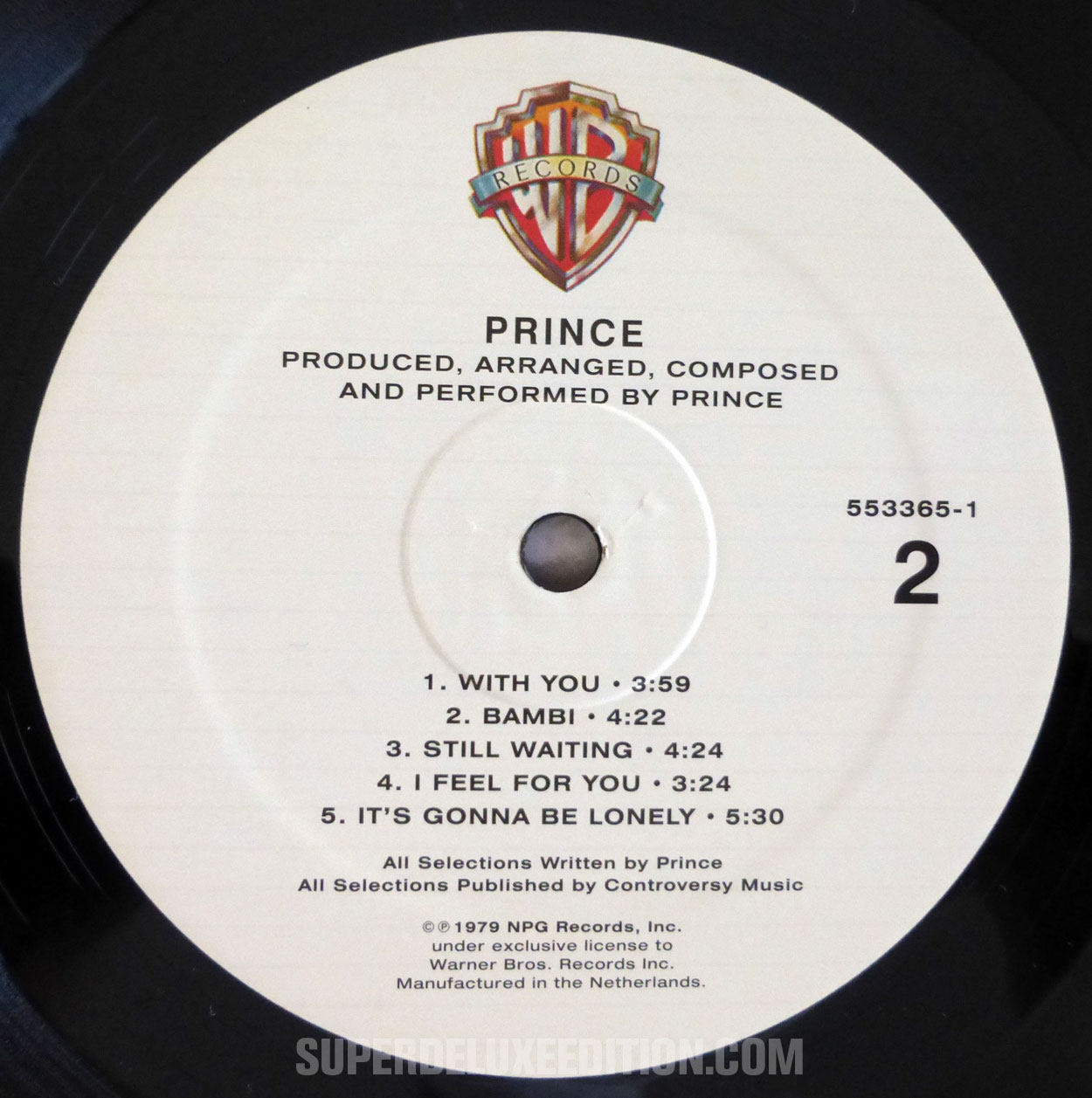 FIRST PICTURES: Prince vinyl LP reissue