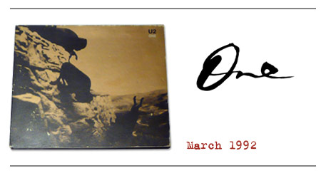 One / U2 Achtung Baby
