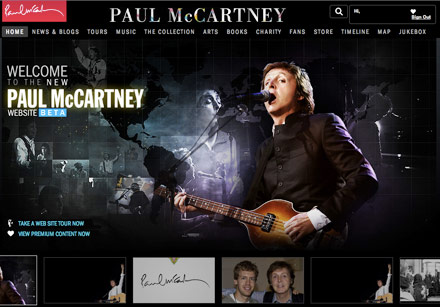 Paul McCartney launches new HP-driven website
