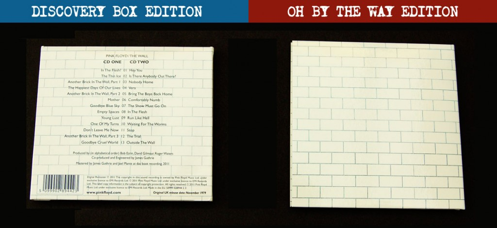 Pink Floyd / The Wall / Packaging showdown