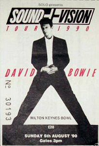 David Bowie / Sound + Vision tour ticket