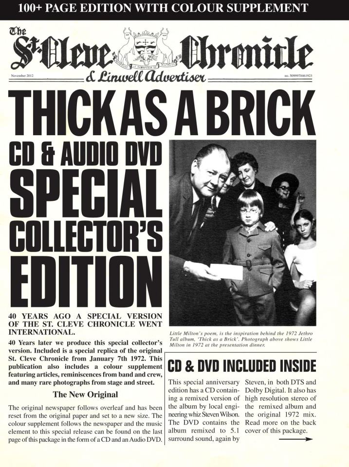 Jethro Tull / Thick As A Brick 40th Anniversary reissue