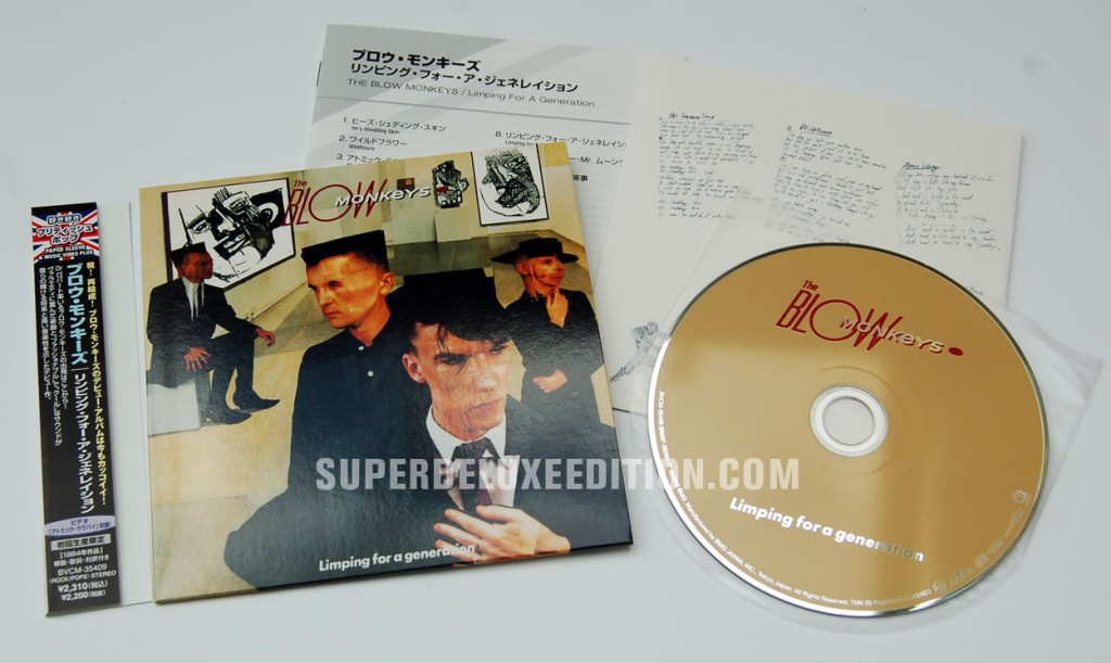The Blow Monkeys / Limping For A Generation Japanese mini LP CD