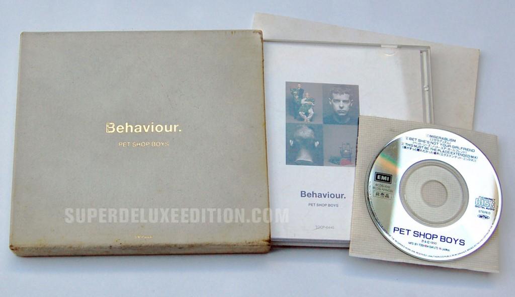 "Pet Shop Boys / Behaviour Japan limited edition CD with bonus 3"""