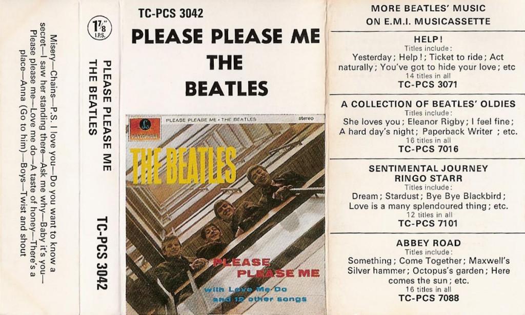Please Please Me 1970s tape