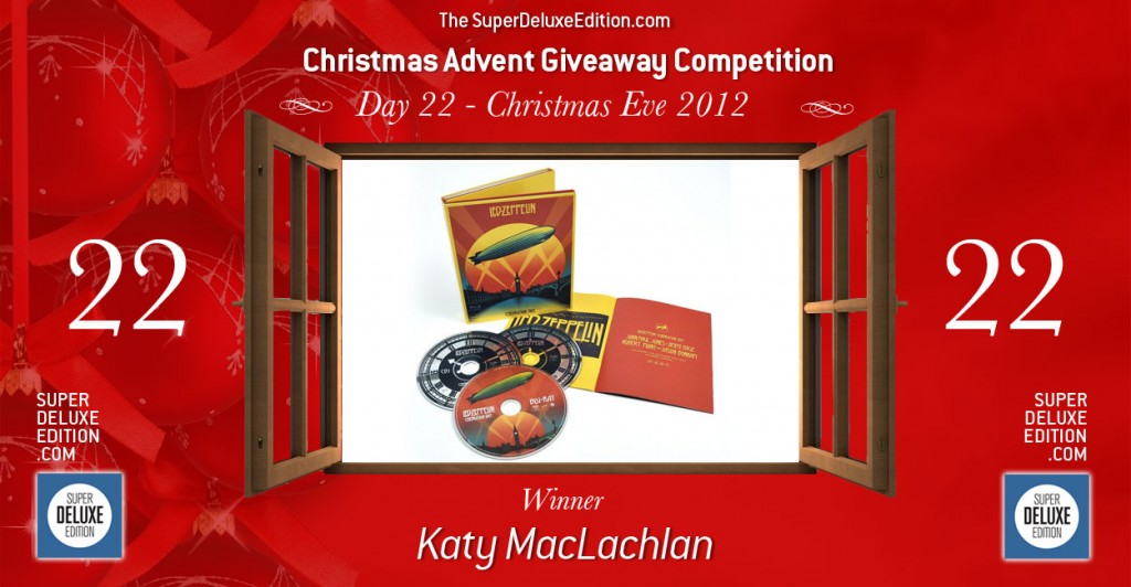 Christmas Advent Giveaway competition / Day 22: The Winner