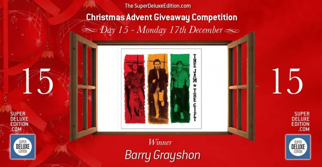 Christmas Advent Giveaway competition / Day 15: Winner