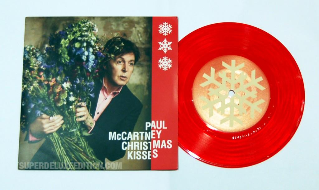 """Paul McCartney / Christmas Kisses red vinyl 7"""" single"""