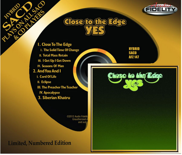 Yes / Close To The Edge Audio Fidelity SACD