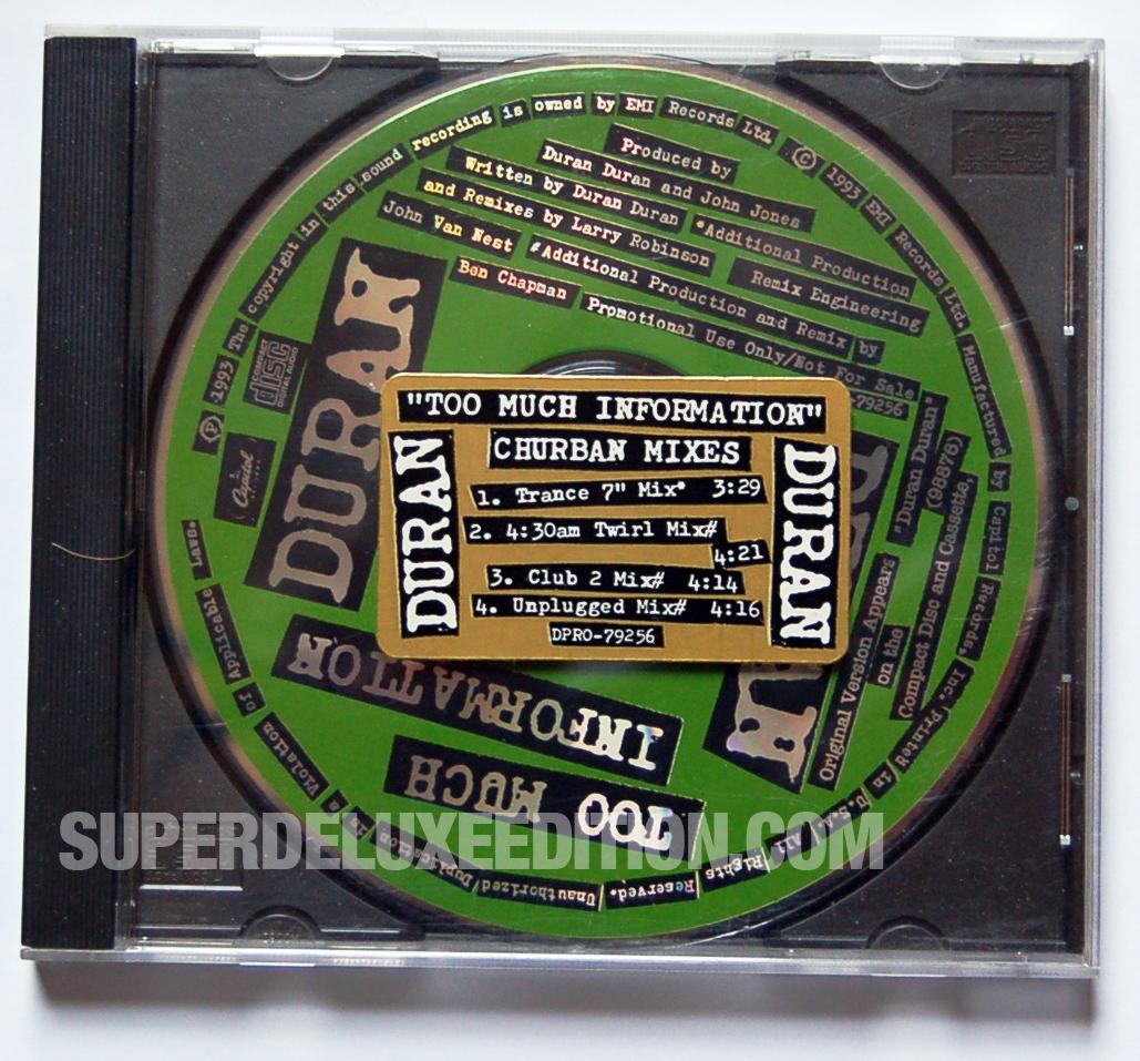 Duran Duran / Too Much Information Churban mixes promo