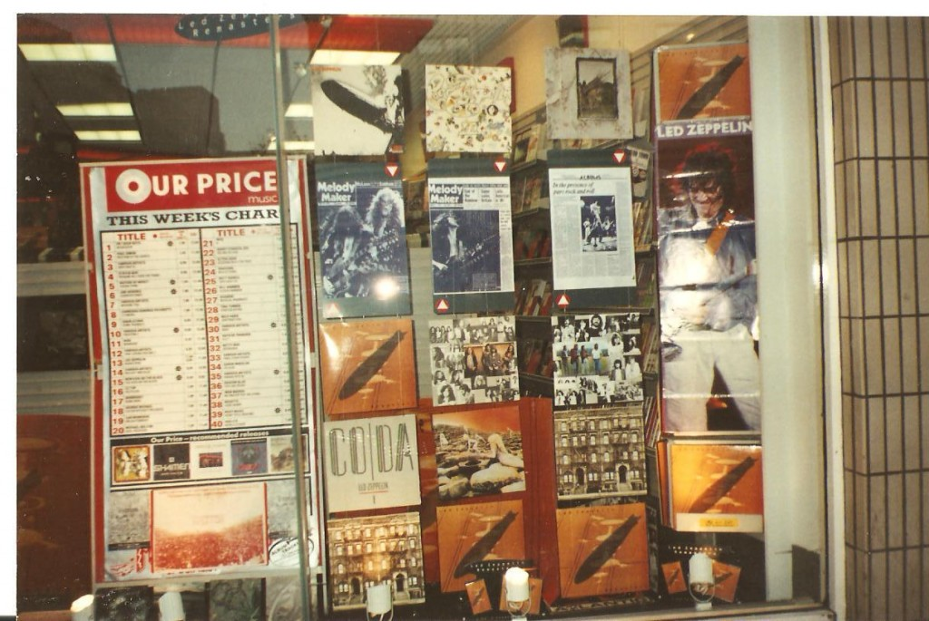 Our Price record shop