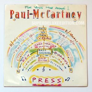 "Paul McCartney / Press 7"" single"