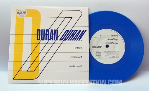 Duran Duran / Is There Something I Should Know blue vinyl