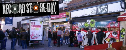 Waiting outside Flashback in north London on Record Store Day