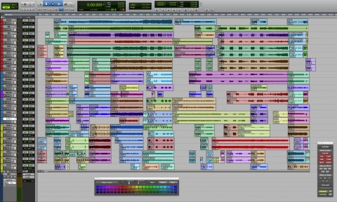 Mike Oldfield's screenshot of Crises multitrack in protools