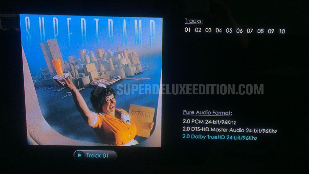 Supertramp / Breakfast In America blu-ray audio