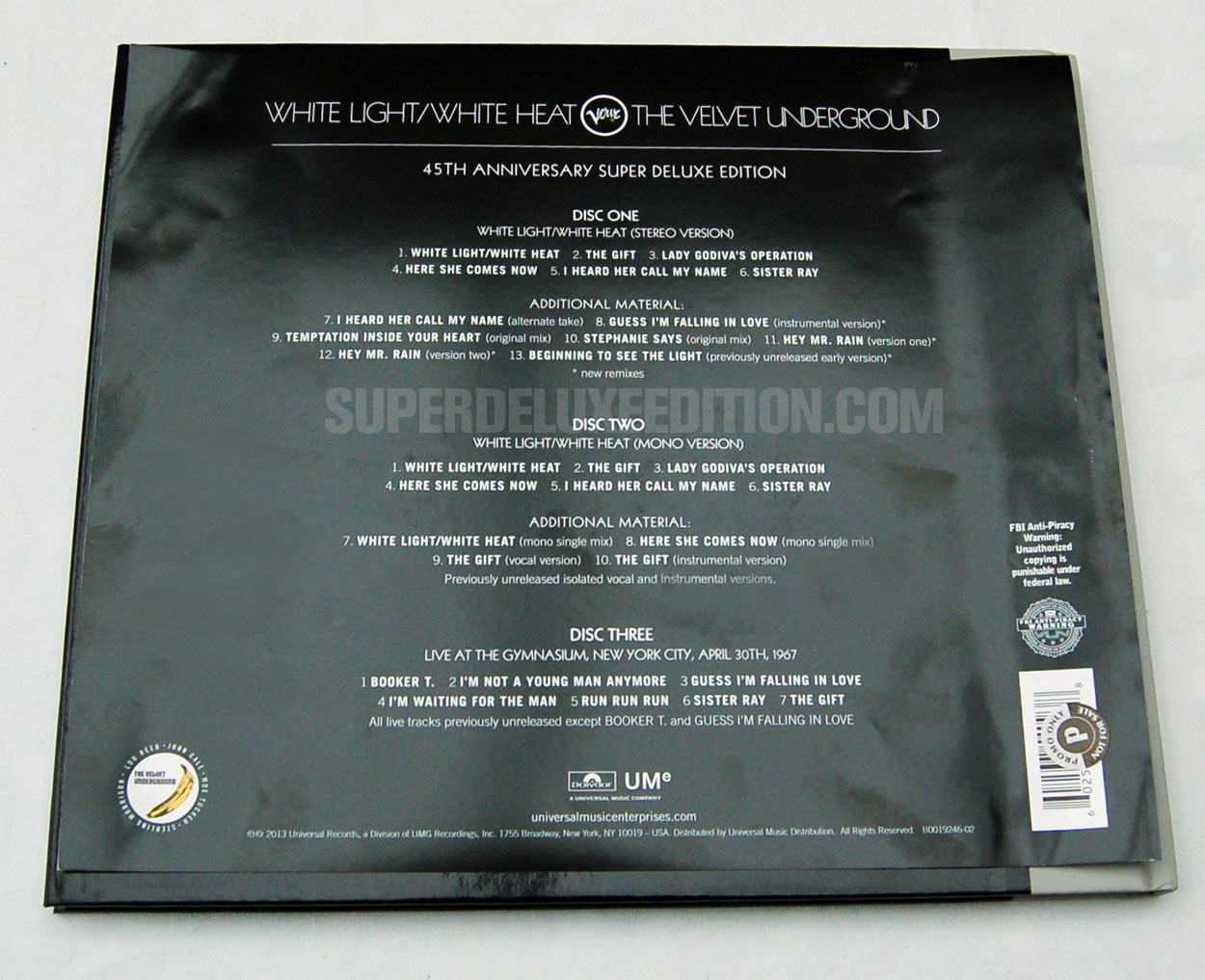 FIRST PICTURES: The Velvet Underground: White Light / White Heat Super Deluxe