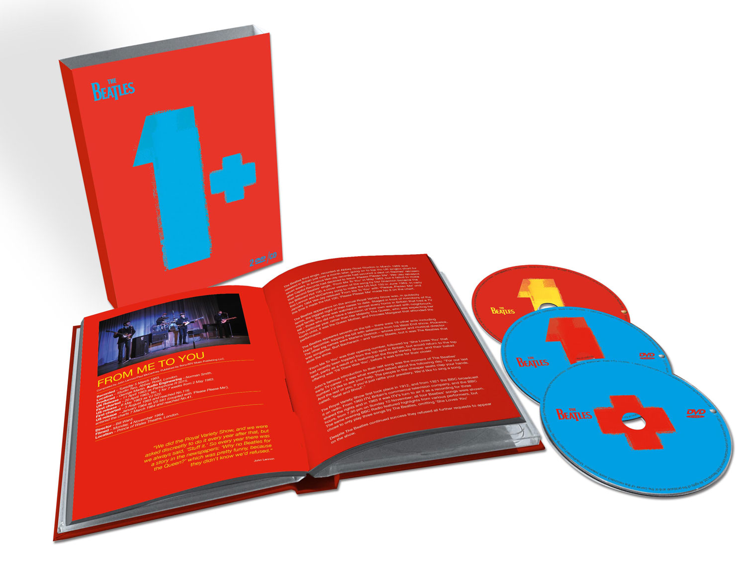 The Beatles / 1+ Deluxe CD+2dvd with restored videos and remixed audio