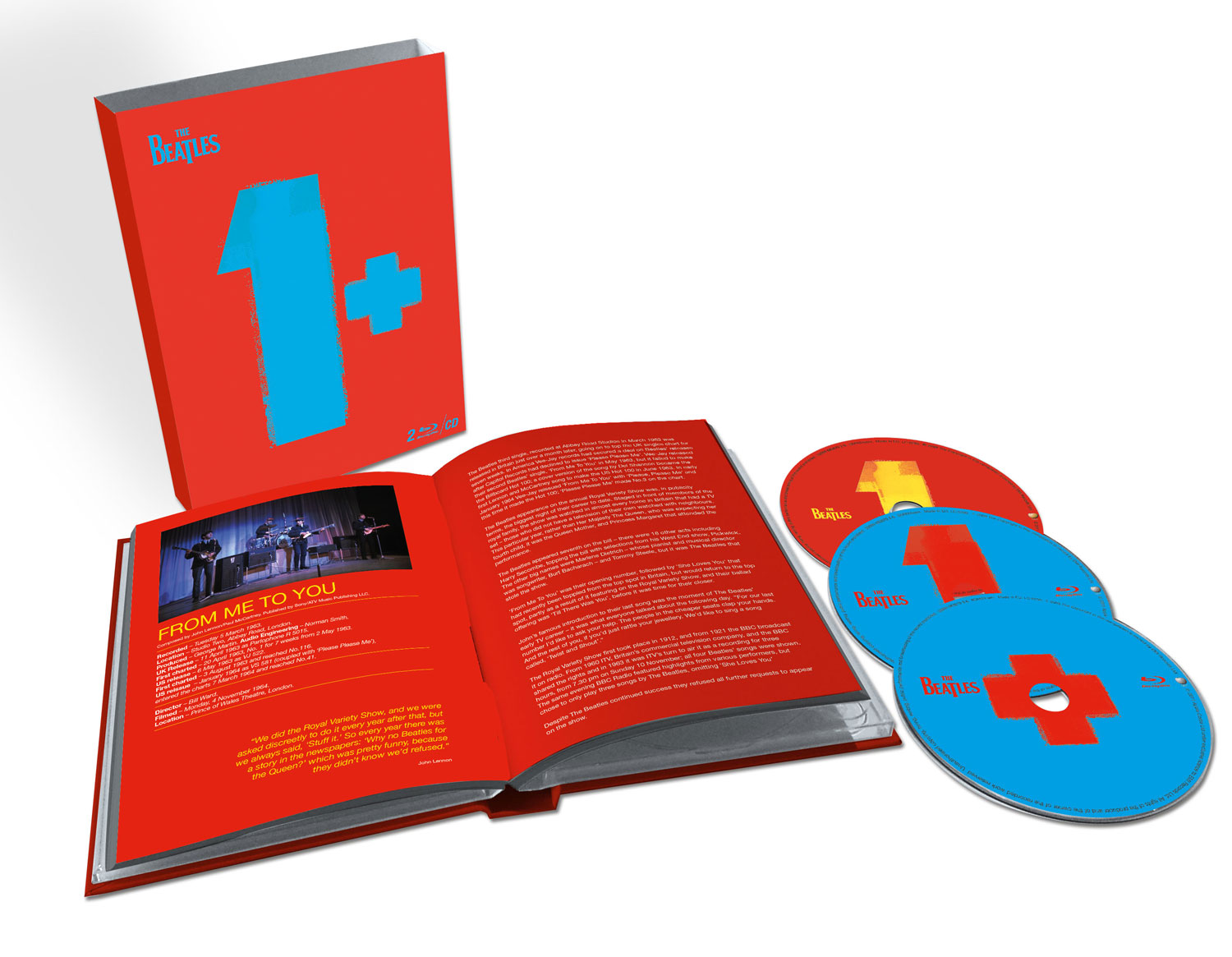 The Beatles / 1+ Deluxe CD+2blu-ray with restored videos and remixed audio