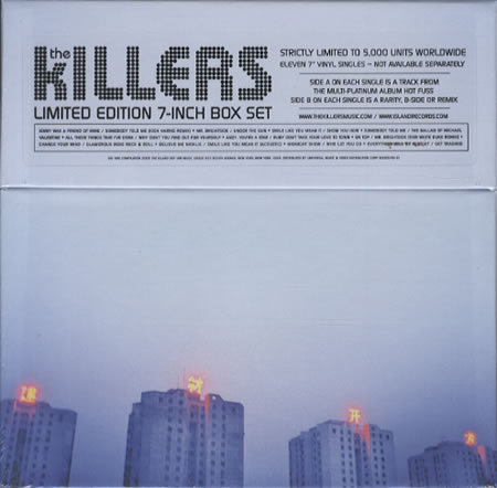 The Killers / Hot Fuss seven-inch vinyl box set