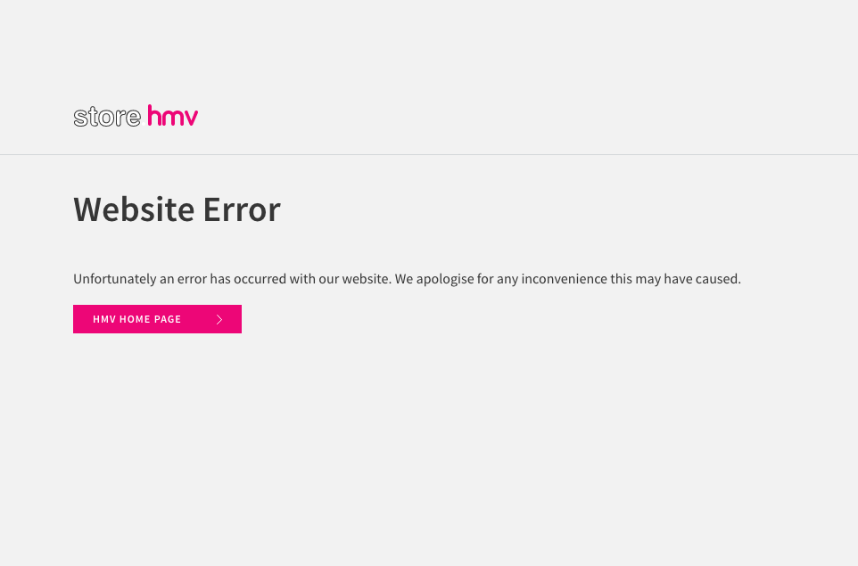 HMV website can't cope with demand