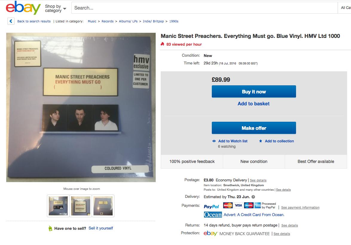 HMV exclusives already on eBay