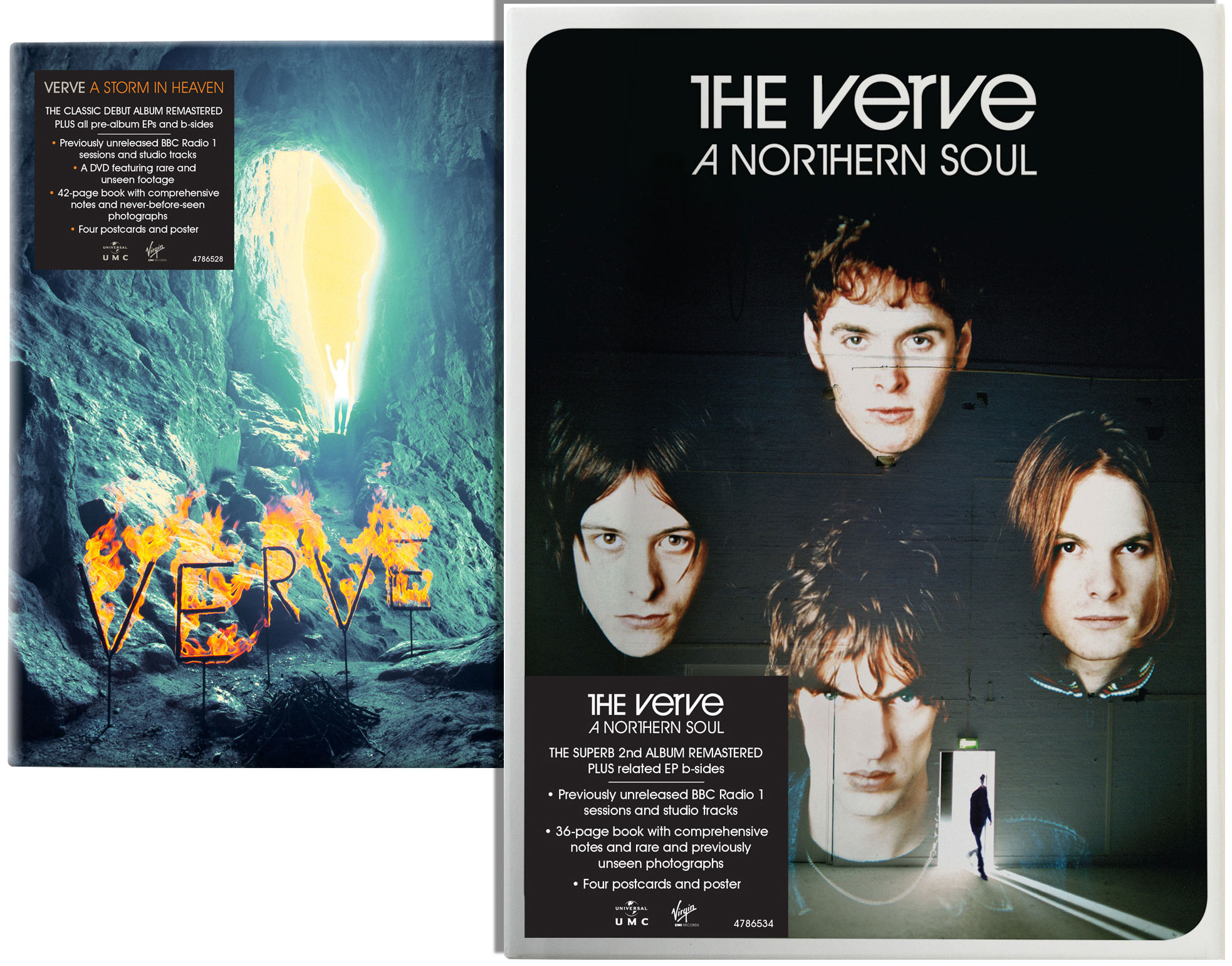 The Verve / A Northern Soul and A Storm in Heaven super deluxe edition box sets