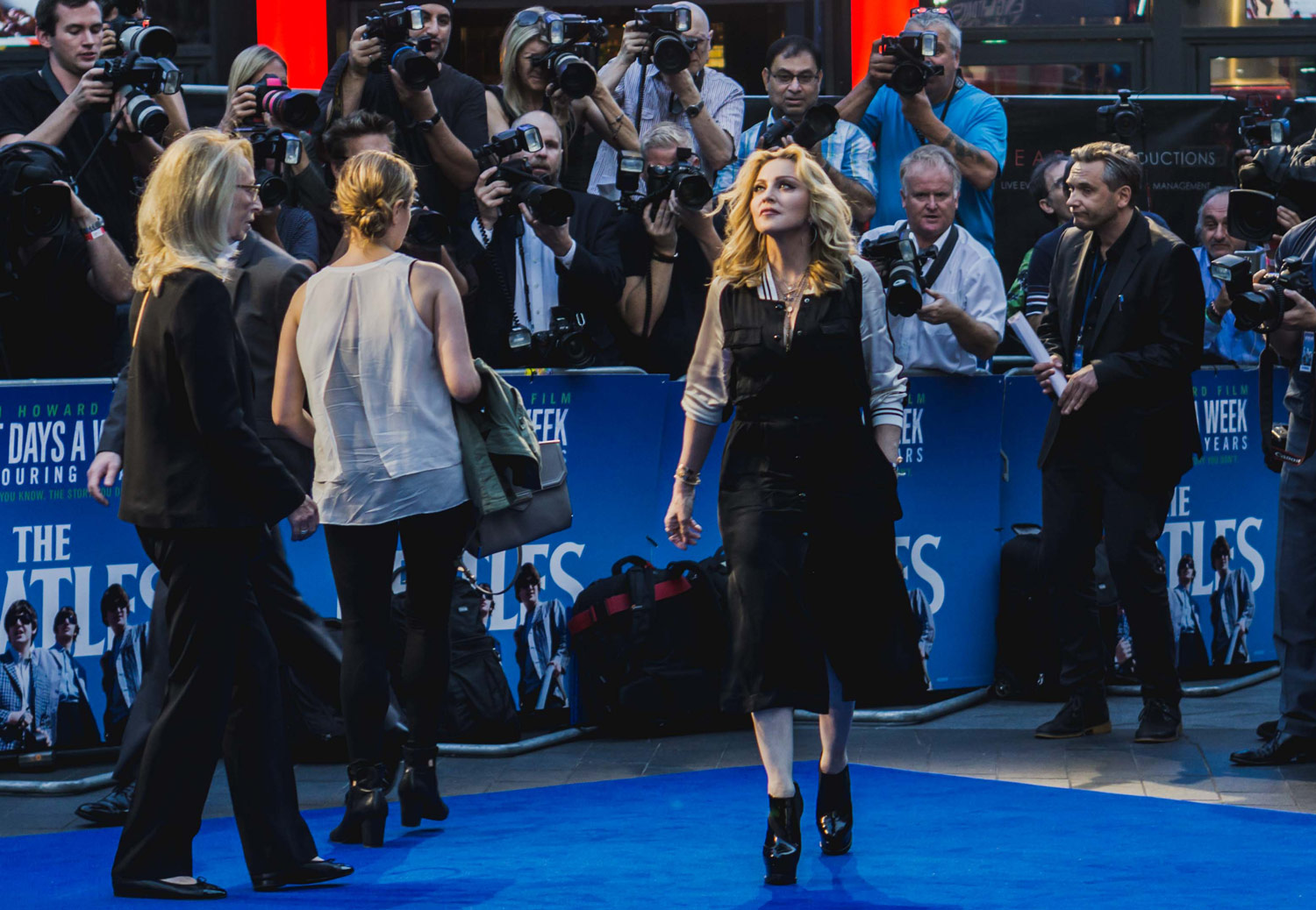 Madonna at the premiere