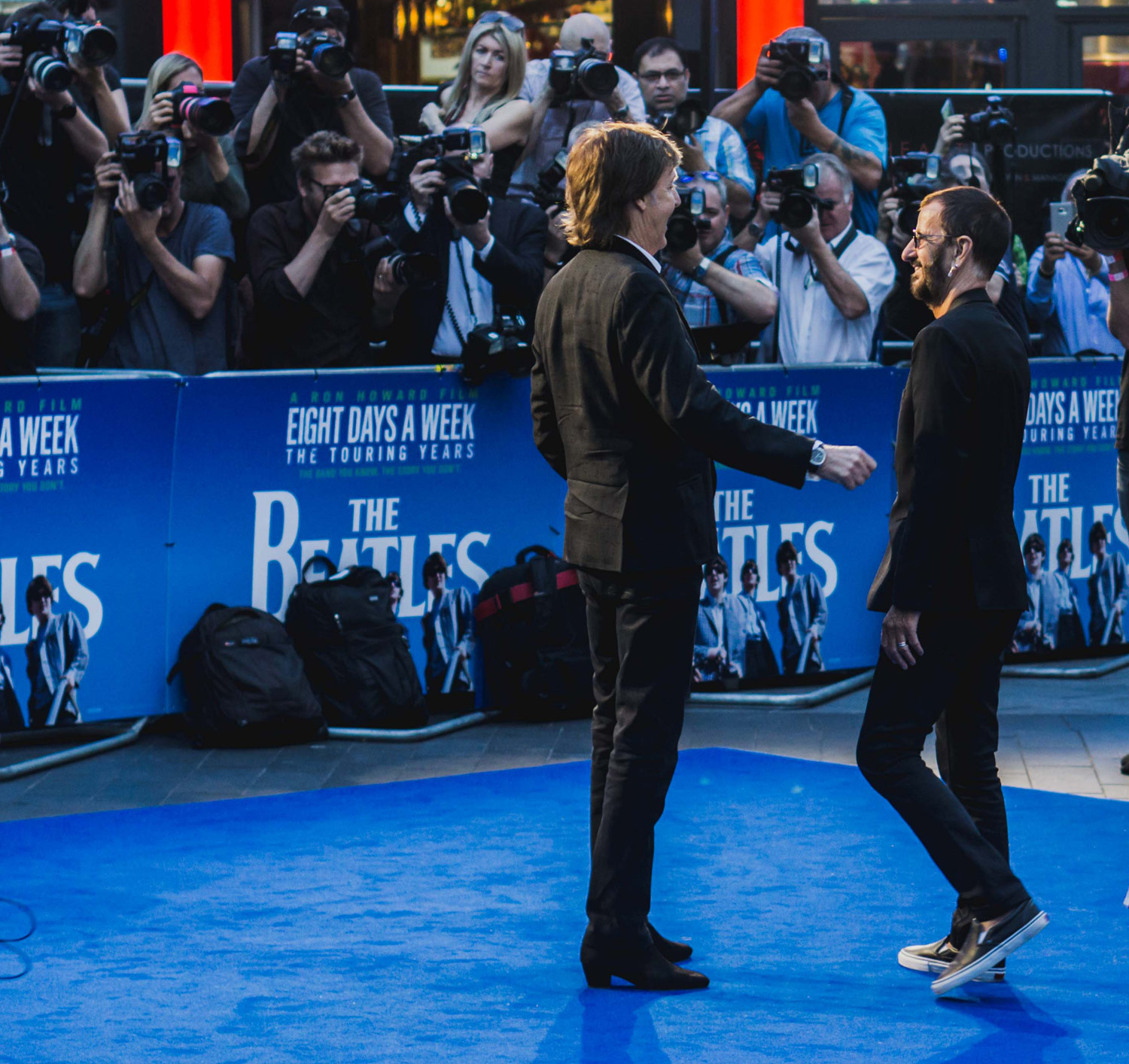 Paul and Ringo at the premiere