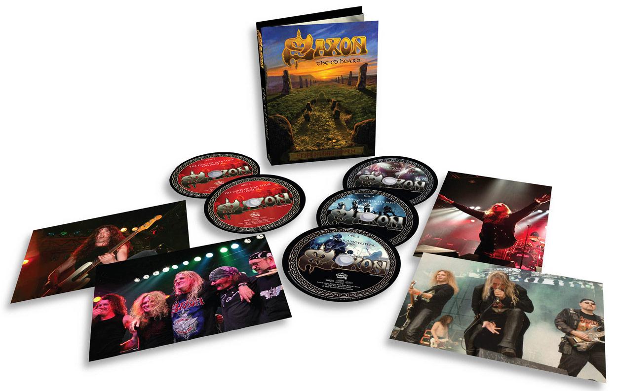 Saxon / The CD Hoard five-disc bookset