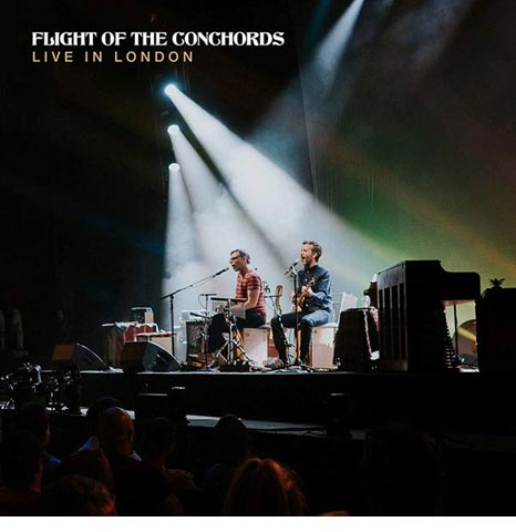 Flight of the Conchords 'Live in London' on limited CLEAR 3LP vinyl