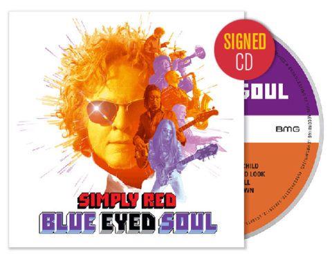 Pre-order Simply Red's new album Blue Eyed Soul as a signed CD edition