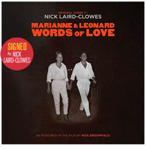 Marianne & Leonard: Words of Love original score / Nick Laird-Clowes signed