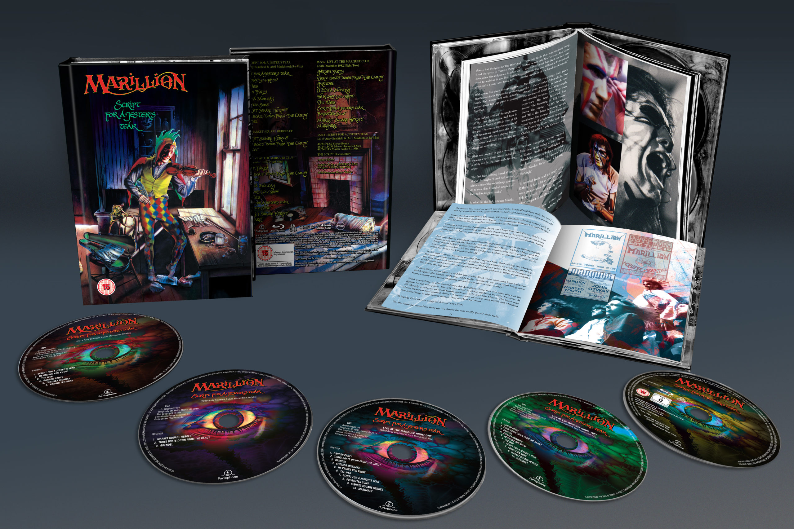 Marillion / Script For A Jester's Tear 4CD+blu-ray reissue