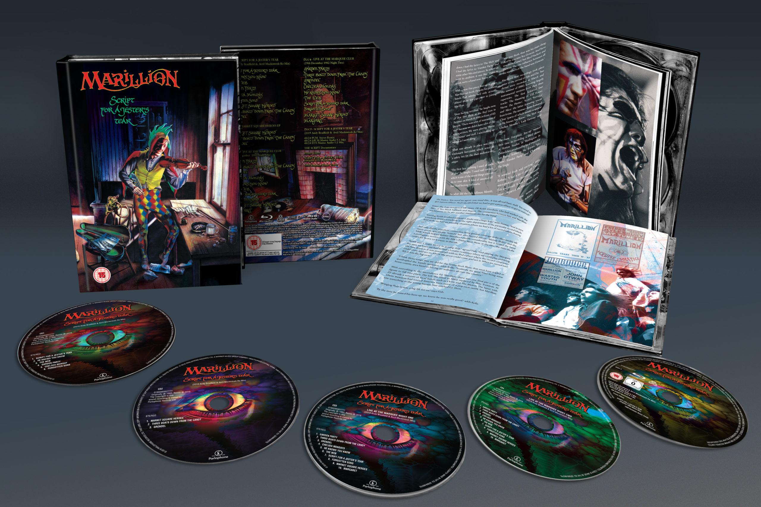 Marillion / Script For A Jester's Tear 4CD+blu-ray reissue
